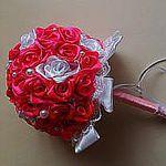 Букеты Топиарии  из атласных лент (NinaKrus) - Ярмарка Мастеров - ручная работа, handmade