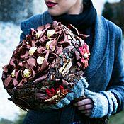 Цветы и флористика ручной работы. Ярмарка Мастеров - ручная работа Букет Природа с конфетами, украшенный древесной корой от Alexander Awe. Handmade.