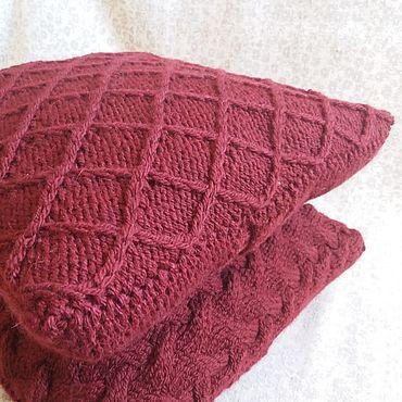 Textiles handmade. Livemaster - original item Pillow knitted from a half-wool of a Network of Morpheus. Handmade.