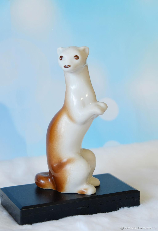 A statuette 'a sable Ferret ermine weasel», Figurines, Chrysostom,  Фото №1