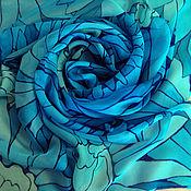 """Аксессуары ручной работы. Ярмарка Мастеров - ручная работа Батик-платок """"Blue Curacao"""". Handmade."""