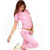Спортивные костюмы ручной работы. Ярмарка Мастеров - ручная работа Летний спортивный костюм женский розовый. Handmade.
