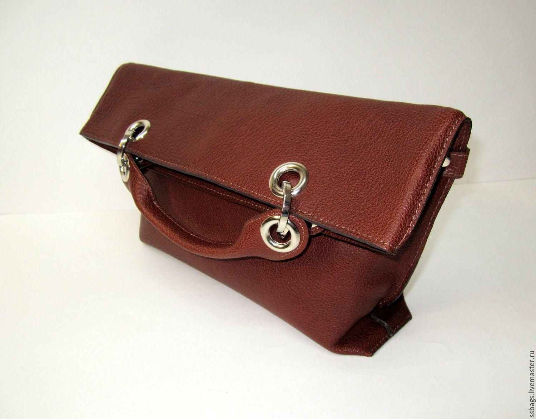 0ce0996a47e6 Soft handbag with inflection. Soft clutch bag. Buffalo leather. Bags · Handbags  handmade.
