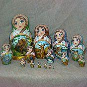 Русский стиль handmade. Livemaster - original item Matryoshka Siberian Taiga. Handmade.