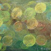 Картины и панно handmade. Livemaster - original item Oil pastel painting multicolored twinkling lights