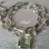 Necklace handmade. Livemaster - original item Necklace `Marquis`, amethyst (prasiolite). Handmade.