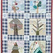 """Картины и панно ручной работы. Ярмарка Мастеров - ручная работа Текстильное панно """"Зимние деревья"""". Handmade."""