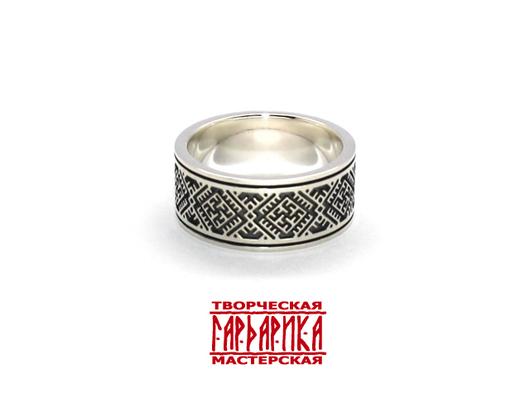 Широкое кольцо в славянском стиле