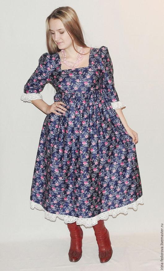 Платья ручной работы. Ярмарка Мастеров - ручная работа. Купить Платье из хлопка Прованс П-111. Handmade. Комбинированный