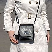 Сумки и аксессуары handmade. Livemaster - original item Crossbody bag: Women`s black leather handbag over Edith`s shoulder. Handmade.