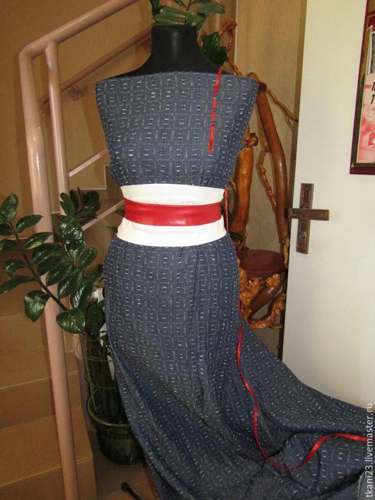 Шитье ручной работы. Ярмарка Мастеров - ручная работа. Купить ткань джинсовая рубашечная арт.32 ДЖ рваный темный синий(Китай). Handmade.
