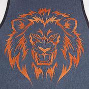 """Для дома и интерьера ручной работы. Ярмарка Мастеров - ручная работа Фартук """"Сила льва"""". Handmade."""