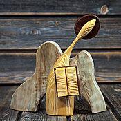 Для дома и интерьера handmade. Livemaster - original item Wooden figure: Guardian angel of knowledge.. Handmade.