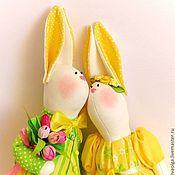 Мягкие игрушки ручной работы. Ярмарка Мастеров - ручная работа Пасхальные зайцы. Handmade.