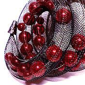 Украшения ручной работы. Ярмарка Мастеров - ручная работа Браслет из сетки из красных жемчужин. Handmade.