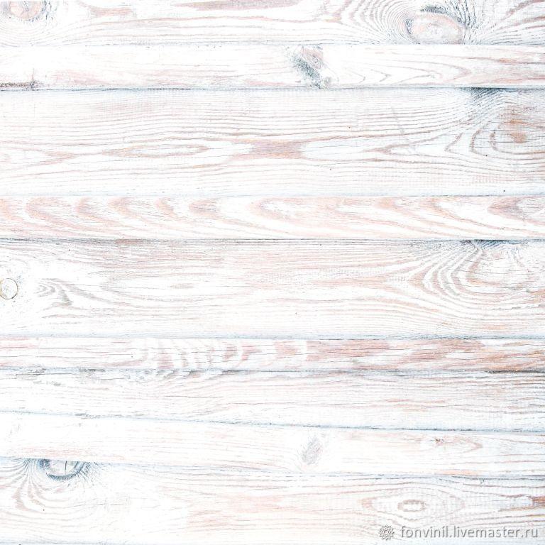 Виниловый фон 50х50 Деревянный, Белый, Фотофоны, Челябинск,  Фото №1