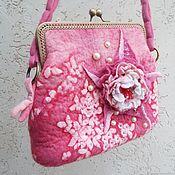 handmade. Livemaster - original item Felted handbag