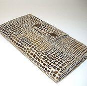 Сумки и аксессуары handmade. Livemaster - original item Purse-clutch bag made from Italian genuine leather with embossing .. Handmade.