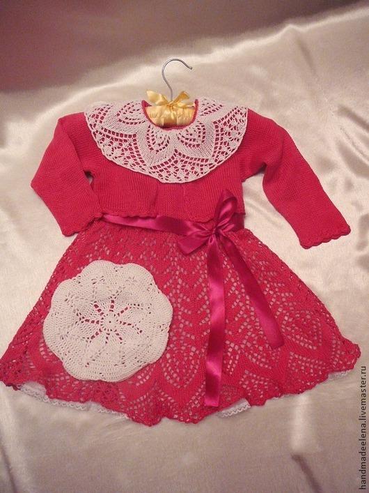 Одежда для девочек, ручной работы. Ярмарка Мастеров - ручная работа. Купить Комплект для Девочки. Handmade. Платье для девочки, платье вязаное