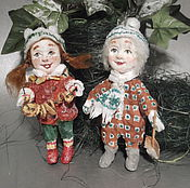 Куклы и игрушки ручной работы. Ярмарка Мастеров - ручная работа Рыжая Зося и блондин Сёма. Handmade.
