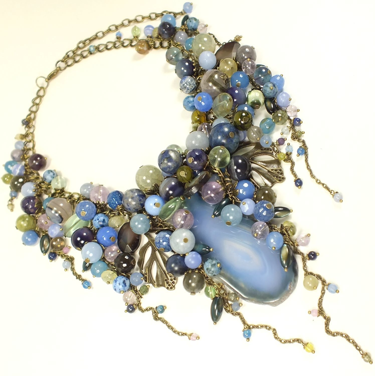 Sleepy Ocean. necklace made of natural stones, Necklace, St. Petersburg,  Фото №1