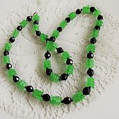Винтаж handmade. Livemaster - original item Rare Beads with Uranium glass Jablonec Czechoslovakia 1960s. Handmade.