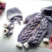 Одежда детская handmade. Livemaster - original item Knitted Romper for baby. Handmade.