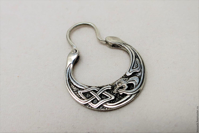 Earrings handmade. Livemaster - handmade. Buy mens earring simargl.For men