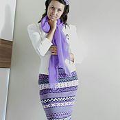 """Одежда ручной работы. Ярмарка Мастеров - ручная работа вязаная жаккардовая юбка """"Ежевичка"""". Handmade."""