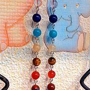 Украшения handmade. Livemaster - original item Long earrings chakra and rainbow Harmony 7 Chakras. Handmade.