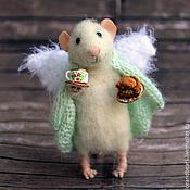 Куклы и игрушки ручной работы. Ярмарка Мастеров - ручная работа мышь - домашний ангел. Handmade.
