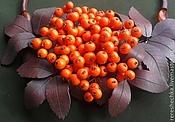 """Украшения ручной работы. Ярмарка Мастеров - ручная работа """"Осеннее настроение. Оранжево..."""" Колье и серьги Бронь. Handmade."""