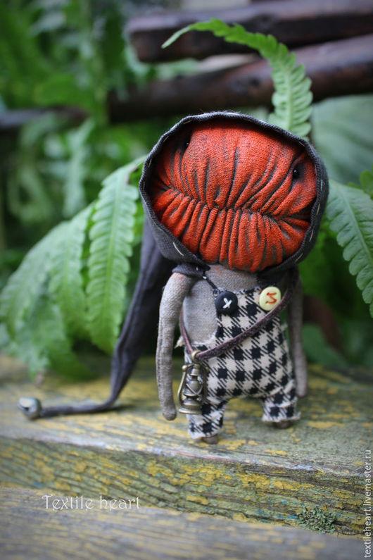 Куклы и игрушки ручной работы. Ярмарка Мастеров - ручная работа. Купить Джек.. Handmade. Рыжий, чердачные монстры, textile heart