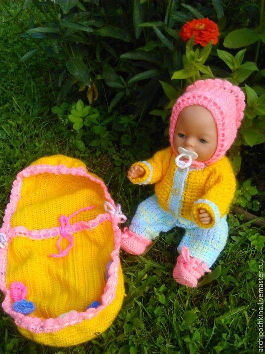 Одежда для кукол ручной работы. Ярмарка Мастеров - ручная работа. Купить Одежда и конверт для куклы. Handmade. Комбинированный, одежда для кукол