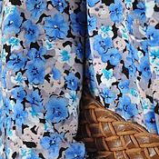 """Одежда ручной работы. Ярмарка Мастеров - ручная работа Длинное платье из хлопка """"Цветок льна"""". Handmade."""