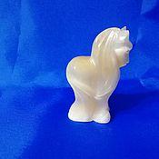 Для дома и интерьера handmade. Livemaster - original item Horse made of natural Ural ornamental stone Selenite. Handmade.