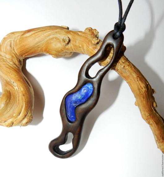 """Кулоны, подвески ручной работы. Ярмарка Мастеров - ручная работа. Купить Кулон - подвеска из дерева """"Бурная река"""" (палисандр). Handmade."""