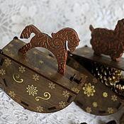 """Подарки к праздникам ручной работы. Ярмарка Мастеров - ручная работа Большой короб-качалка""""Шоколад"""". Handmade."""