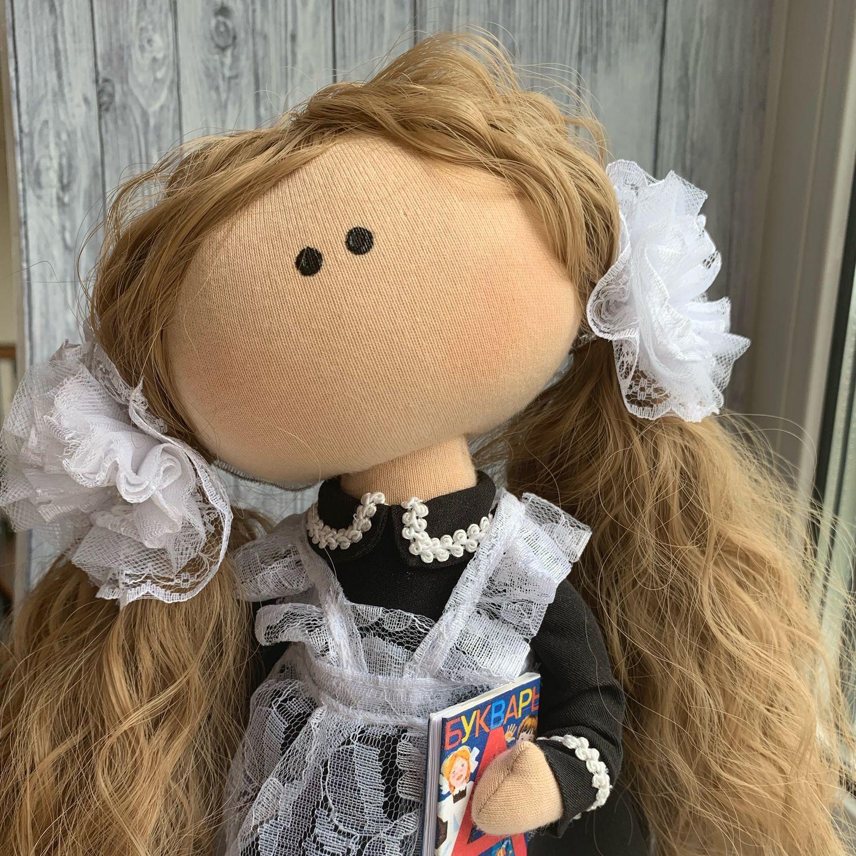 Куколка школьница, Портретная кукла, Артем,  Фото №1