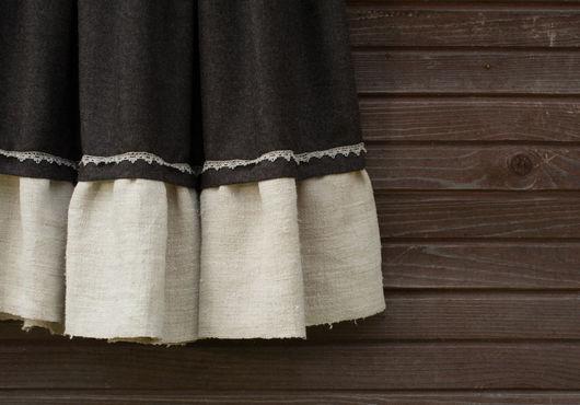 Юбки ручной работы. Ярмарка Мастеров - ручная работа. Купить Юбка серая, шерстяная. Handmade. Темно-серый, шерстяная юбка