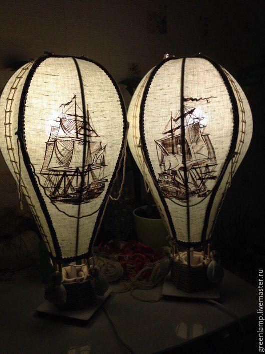 """Освещение ручной работы. Ярмарка Мастеров - ручная работа. Купить лампа """"Воздушный шар"""". Handmade. Комбинированный, дизайнерская лампа"""