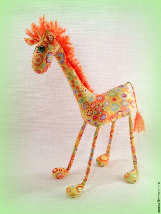 Игрушки животные, ручной работы. Ярмарка Мастеров - ручная работа. Купить Рыжик жираф   )). Handmade. Разноцветный