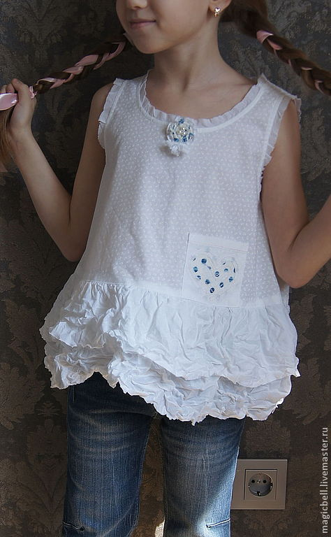 Одежда для девочек купить на Ярмарке Мастеров летняя одежда для девочек кармашек в горошек