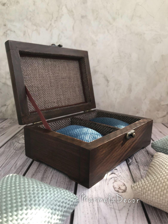 Шкатулка для мужских часов на два отделения, Шкатулки, Москва, Фото №1