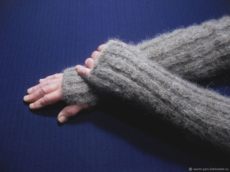 Long knitted fingerless gloves, Mitts, Klin,  Фото №1