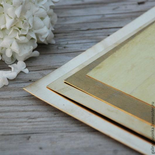 Другие виды рукоделия ручной работы. Ярмарка Мастеров - ручная работа. Купить Латунь листовая. Handmade. Золотой, лист