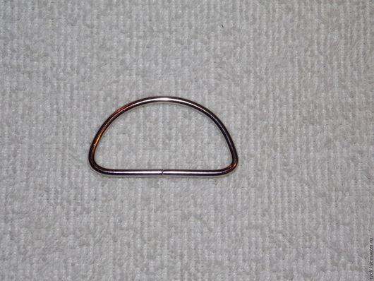 Шитье ручной работы. Ярмарка Мастеров - ручная работа. Купить Полукольцо 40 мм, металл,  никель, серебристый. Handmade. Декор