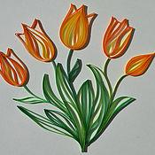 """Картины и панно ручной работы. Ярмарка Мастеров - ручная работа Картина """"Весенние тюльпаны"""". Handmade."""