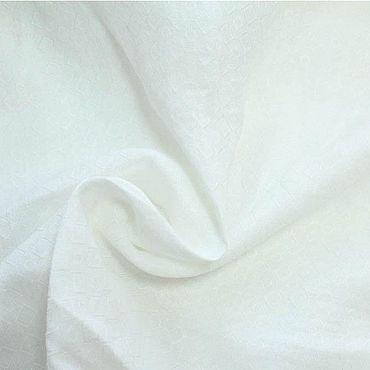 Материалы для творчества ручной работы. Ярмарка Мастеров - ручная работа Плательно-рубашечная жаккардовая крапива, цвет молочный. Handmade.