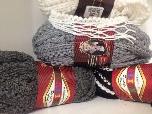 Вязание ручной работы. Ярмарка Мастеров - ручная работа. Купить Пряжа Alize dantella wool. Handmade. Ленточная пряжа, полушерсть